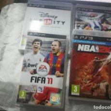 Videojuegos y Consolas: LOTE DE JUEGOS PS3 Y PSP PS3 NBA 2K 12-MOTO GP 10/11-INFINITY PSP FIFA 11.PLAYSTATION. Lote 175752569