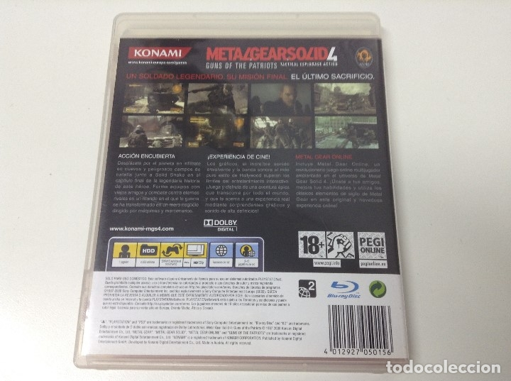 Videojuegos y Consolas: METAL GEAR SOLID 4 GUNS OF THE PATRIOTS - Foto 2 - 176218737