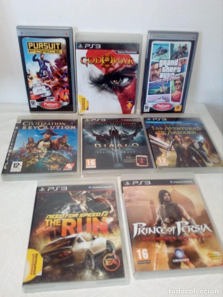 LOTE 6 JUEGOS PS3 Y 2 PSP (Juguetes - Videojuegos y Consolas - Sony - PS3)
