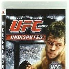 Videojuegos y Consolas: LOTE OFERTA JUEGO PLAY STATION 3 - PS3 - UFC 2009 - UNDISPUTED - MUY NUEVO CON SU MANUAL. Lote 180155236