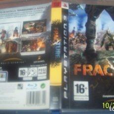Videojuegos y Consolas: FRACTURE - JUEGO PS3 - LUCASART PAL ESP. Lote 180282750