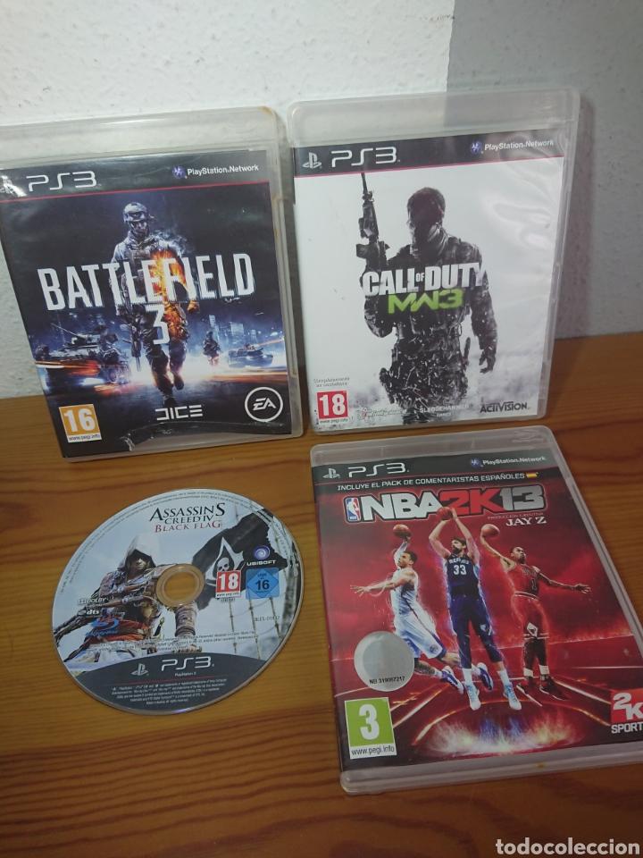 LOTE 4 JUEGOS PLAYSTATION 3 - CALL OF DUTY MW 3, BATTLEFIELD 3, ASSASINS CREED IV... PS3 (Juguetes - Videojuegos y Consolas - Sony - PS3)
