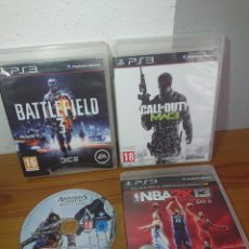 Videojuegos y Consolas: LOTE 4 JUEGOS PLAYSTATION 3 - CALL OF DUTY MW 3, BATTLEFIELD 3, ASSASINS CREED IV... PS3. Lote 181123901