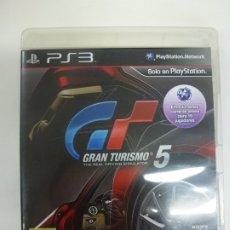 Videojuegos y Consolas: GRAN TURISMO 5. PLAYSTATION 3. PS3. CON JUEGO E INSTRUCCIONES. COMPLETO. . Lote 181353700