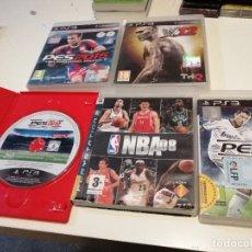Videojuegos y Consolas: G-NAN87 LOTE DE 5 JUEGOS DE PS3 NBA08 W12 PES2013 ETC.. VER FOTOS. Lote 182118125