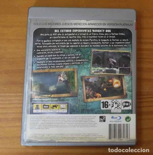 Videojuegos y Consolas: UNCHARTED, EL TESORO DE DRAKE, SONY PLAYSTATION 3 PS3 NAUGHTY DOG - Foto 2 - 182146372