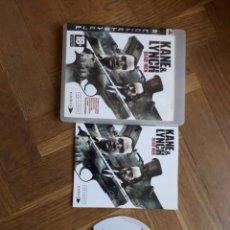Videojuegos y Consolas: KANE AND LYNCH PS3 JUEGO DE PLAYSTATION 3 DEAD MEN PS3. Lote 182590596