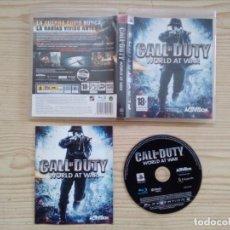 Videojuegos y Consolas: JUEGO PS3 - PLAYSTATION 3 - CALL OF DUTY - WORLD AT WAR. Lote 182788482