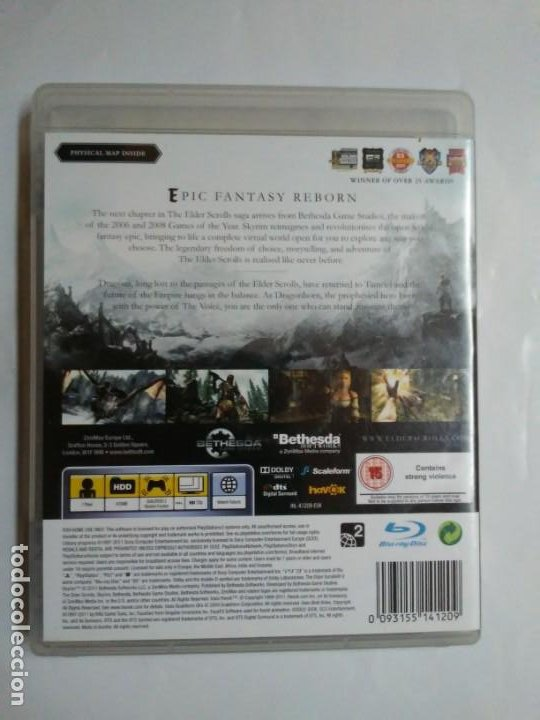 Videojuegos y Consolas: The Elder Scrolls V SKYRIM PS3 PlayStation Network english version en inglés Instrucciones y mapa - Foto 9 - 185702640