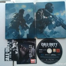 Videojuegos y Consolas: JUEGO Y CAJA METALICA STEELBOOK CALL OF DUTY GHOST COD PS3 PLAYSTATION 3 PLAY STATION 3 KREATEN. Lote 186106882