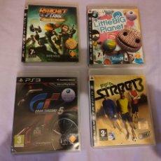 Videojuegos y Consolas: LOTE JUEGOS PS3 SONY PLAYSTATION 3 - RATCHET & CLANK LITTLE BIG PLANET GRAN TURISMO 5 FIFA STREET 3. Lote 187446790