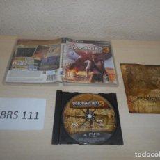 Videojuegos y Consolas: PS3 - UNCHARTED 3 , PAL ESPAÑOL , COMPLETO. Lote 187523668