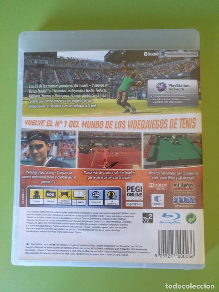 Videojuegos y Consolas: VIRTUA TENNIS 2009 PS3 - Foto 3 - 188490701