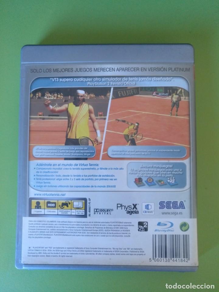 Videojuegos y Consolas: VIRTUA TENNIS 3 PS3 - Foto 3 - 188490761