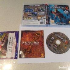 Videojuegos y Consolas: UNCHARTED 2 SONY PS3 PLAYSTATION 3 COMPLETO PAL-ESPAÑA. Lote 189401577