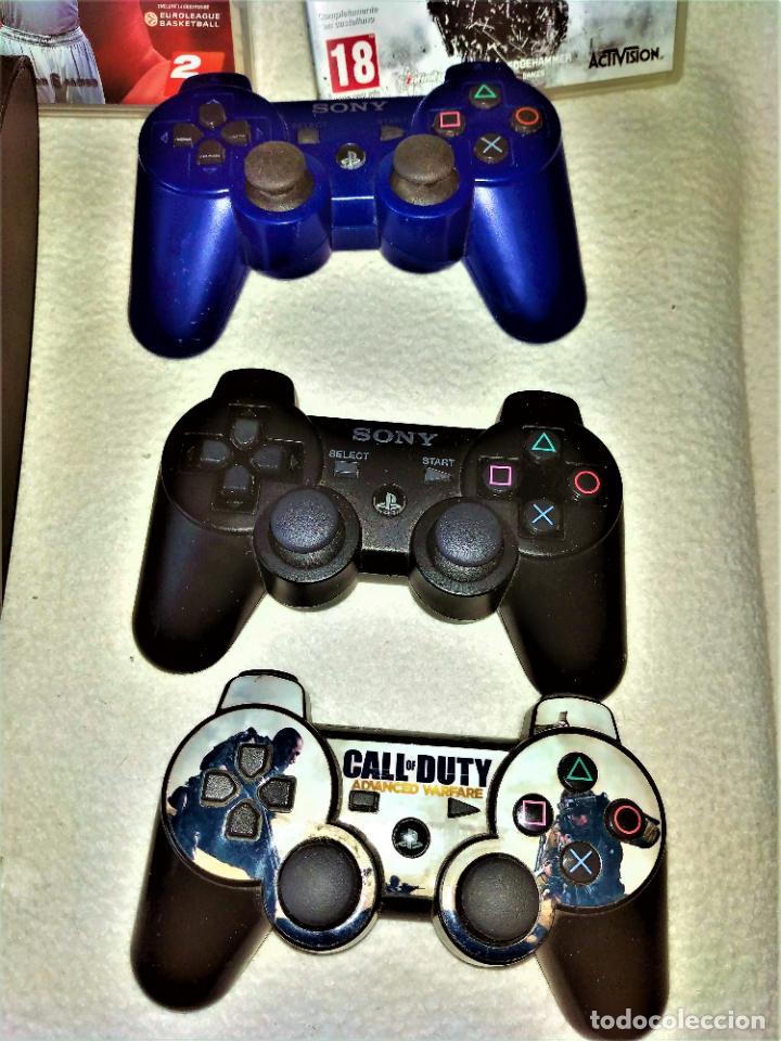 Videojuegos y Consolas: CONSOLA PS3 SLIM + 2 Mandos + 5 Juegos + Caja + Soporte + Cables + Manuales + - Foto 3 - 189689963