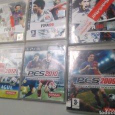 Videojuegos y Consolas: LOTE 6 JUEGOS FÚTBOL PS3 PES Y FIFA. Lote 190796350