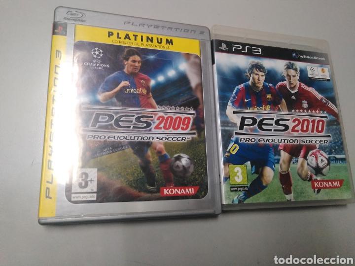 LOTE DE 2 JUEGOS PS3 PES 2009 Y 2010 (Juguetes - Videojuegos y Consolas - Sony - PS3)