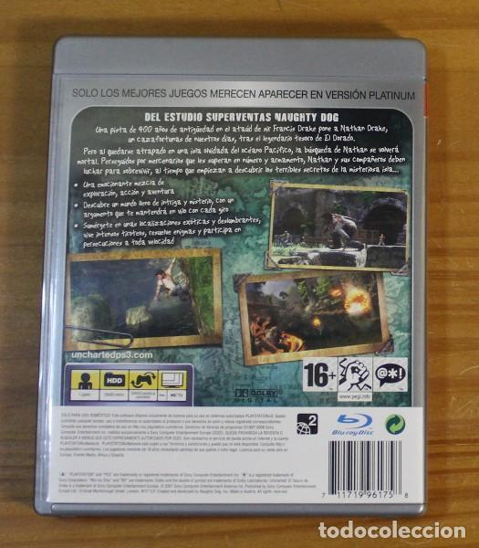 Videojuegos y Consolas: UNCHARTED EL TESORO DE DRAKE, VIDEOJUEGO SONY PLAYSTATION 3 PS3 PAL ESPAÑA - Foto 2 - 191682848
