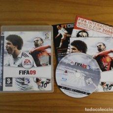 Videojuegos y Consolas: FIFA09, VIDEOJUEGO SONY PLAYSTATION 3 PS3 PAL ESPAÑA FIFA 09 FUTBOL. Lote 191683527