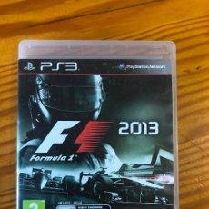 Videojuegos y Consolas: PS3 PLAY STATION 3 JUEGO F1 FORMULA 1 2013 PS1 PS2 PS4 JUEGO PC CD COCHES RALLY VELOCIDAD . Lote 194192576