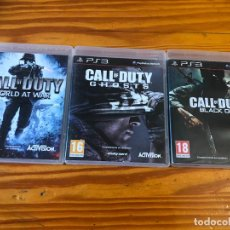 Videojuegos y Consolas: 3 JUEGOS PS3 PLAY STATION 3 CALL OF DUTY WORLD AT WAR GHOSTS BLACK OPS GUERRA PS4 PS2 PS1 MILITAR . Lote 194193471