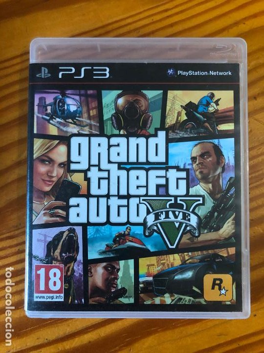PS3 JUEGO PLAY STATION 3 GRAND THEFT AUTO V 5 FIVE PS1 PS2 PS4 CD PC VICE CITY ROL CONSOLAS CONSOLA (Juguetes - Videojuegos y Consolas - Sony - PS3)