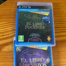 Videojuegos y Consolas: 2 JUEGOS PS3 HARRY POTTER EL LIBRO DE LAS POCIONES LOS HECHIZOS J K ROWLING ZYGMUNT BUDGE LIBRO DVD . Lote 194195500