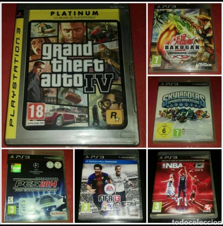 LOTE 6 VIDEOJUEGOS PS3 COMPLETOS (Juguetes - Videojuegos y Consolas - Sony - PS3)