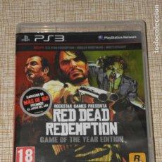 Videojuegos y Consolas: RED DEAD REDEMPTION - GAME OF THE YEAR EDITION. PS3 JUEGO EDICIÓN ESPAÑOLA, CONTIENE LIBRETO INSTRU. Lote 194737448