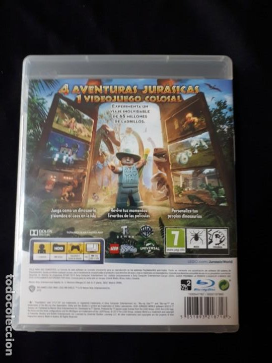 Videojuegos y Consolas: LEGO JURASSIC WORLD - SONY PLAYSTATION 3 - PS3 - BLU-RAY - COMPLETO - Foto 4 - 195304540