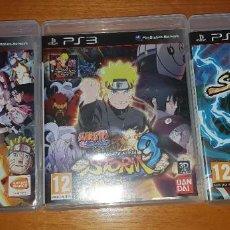 Videojuegos y Consolas: LOTE NARUTO ULTIMATE NINJA STORM PS3 (2, 3 Y REVOLUTION). BUEN ESTADO. Lote 200838107