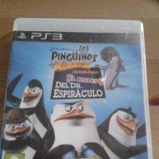 Videojuegos y Consolas: PINGÜINOS DE MADAGASCAR: EL REGRESO DEL DR. ESPIRACULO. PS3.. Lote 203939246