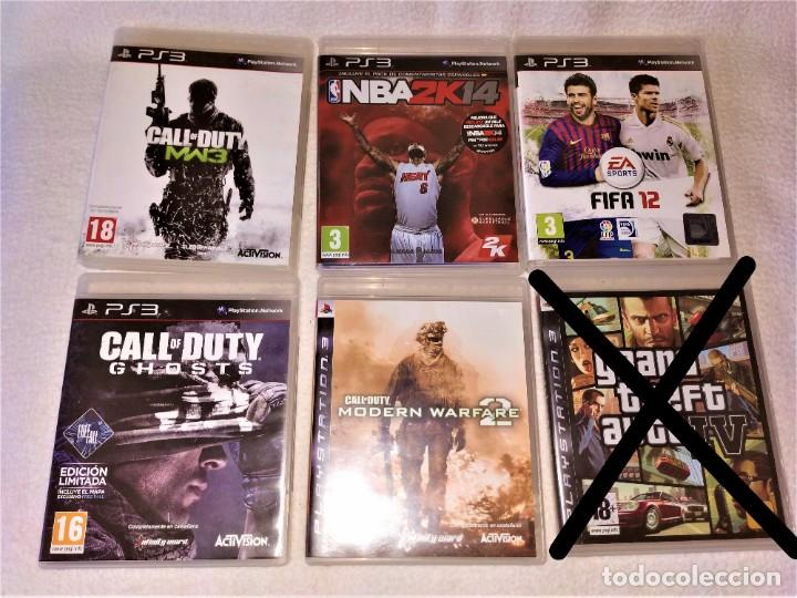 Videojuegos y Consolas: CONSOLA PS3 SLIM + 2 Mandos + 5 Juegos + Caja + Soporte + Cables + Manuales + - Foto 4 - 189689963
