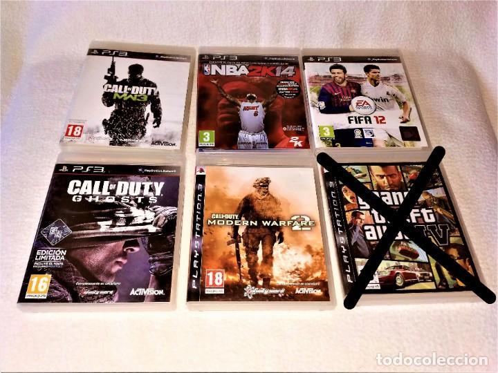 Videojuegos y Consolas: CONSOLA PS3 SLIM + 2 Mandos + 5 Juegos + Caja + Soporte + Cables + Manuales + - Foto 5 - 189689963