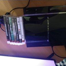 Videojuegos y Consolas: PS3 60 GB + MANDO + 7 JUEGOS ORIGINALES. Lote 205688961