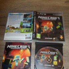 Videojuegos y Consolas: PS3 MINECRAFT PAL ESP COMPLETO. Lote 206327013