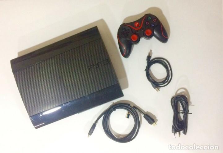 SONY PLAYSTATION 3 SUPER SLIM 500GB CONSOLA SOBREMESA PS3 NEGRA INCLUYE JUEGOS (Juguetes - Videojuegos y Consolas - Sony - PS3)