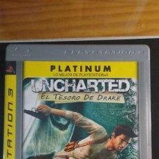 Videojuegos y Consolas: UNCHARTED - EL TESORO DE DRAKE - JUEGO PS3 - INCLUYE MANUAL. Lote 207925080