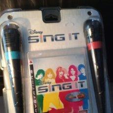 Videojuegos y Consolas: MICROFONOS - SING IT + JUEGO ¡¡ PLAY STATION 3 !! ¡¡NUEVO!! (VER FOTOS). Lote 208190403