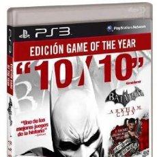 Jeux Vidéo et Consoles: PS3 BATMAN ARKHAM CITY (EDICION GAME OF THE YEAR) EDICIÓN ESPAÑOLA. Lote 208412333