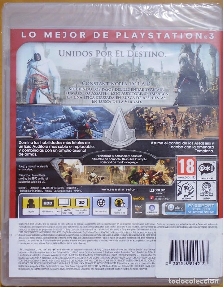 Videojuegos y Consolas: JUEGO PARA PS3 ASSASSINS CREED REVELATIONS NUEVO CON SU PRECINTO - Foto 2 - 208955667
