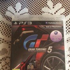 Videojuegos y Consolas: GRAN TURISMO 5 JUEGO PS3 COMPLETO. Lote 210525521