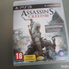 Videojuegos y Consolas: PS3 ASSASSIN'S CREED III. Lote 213740248