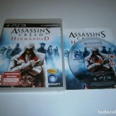 Videojogos e Consolas: ASSASSIN'S CREED LA HERMANDAD PLAYSTATION 3 PAL ESPAÑA COMPLETO. Lote 217957647