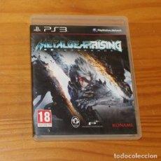 Videojuegos y Consolas: METAL GEAR RISING REVENGEANCE, JUEGO PLAYSTATION 3 PS3 KONAMI KOJIMA PAL ESPAÑA COMPLETO. Lote 218073052