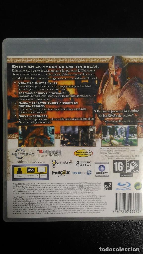 Videojuegos y Consolas: Oblivion, The Elder Scrolls IV con mapa, PS3 Playstation 3 PAL ESP - Foto 2 - 221459256