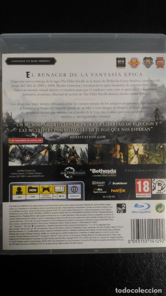 Videojuegos y Consolas: Skyrim, The Elder Scrolls V, con mapa, PS3 Playstation 3 PAL ESP - Foto 2 - 221460032