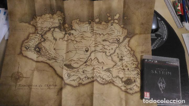 Videojuegos y Consolas: Skyrim, The Elder Scrolls V, con mapa, PS3 Playstation 3 PAL ESP - Foto 3 - 221460032