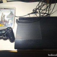 Videojuegos y Consolas: CONSOLA PLAYSTATION 3 - ULTRA SLIM 500GB + CABLEADO Y MANDO. Lote 221494096